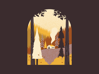 Autumn Vibes nature into the woods trees cozy illustration art illustration woods autumn