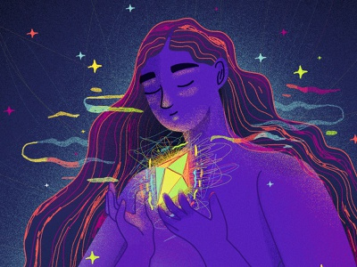 There is beauty on chaos emotions women illustration art women empowerment illustration