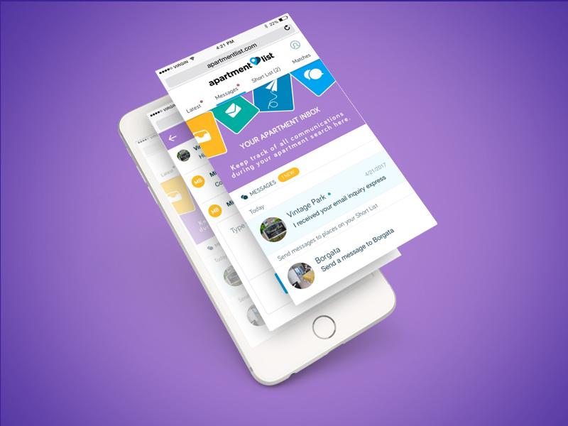 Mobile Web Messaging on Apartment List inbox mobile web mobile messaging