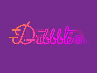 Thank you Fyresite!! Hello Dribbble basketball typography type gradients hello dribble debut