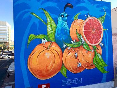 """Juicy"" mural in Tucson, AZ design arizona acrylic spray paint vector art street art tucson mural"