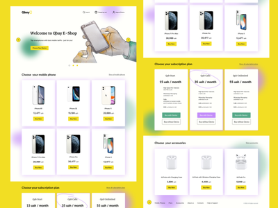 E-commerce website UI flat minimal web ui design