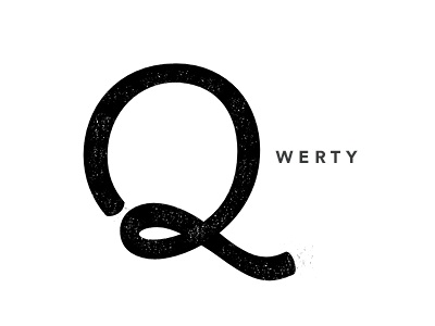 Just Qwerty qwerty script typography