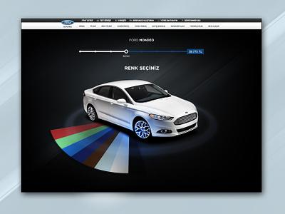 Car Configurator bar process web picker color configurator car ui