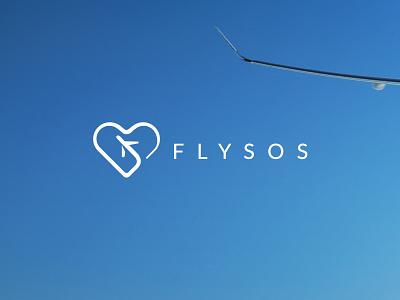 Flysos plane hearth logotype logo