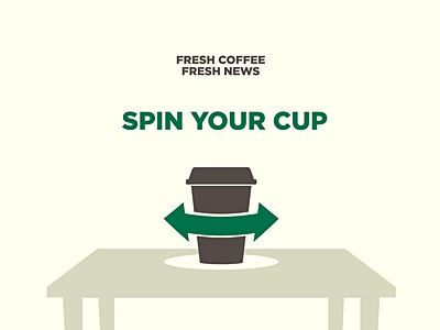 Guide for Natural Interactions nui coffee spin rotate cup news