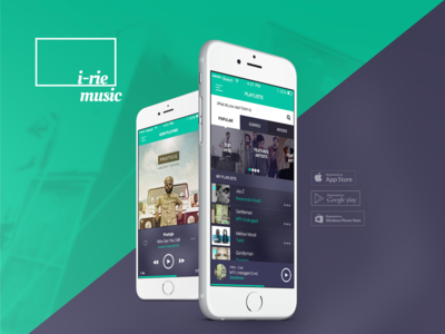 I-rie Music Mobile App mobile ux ui system sound player music app