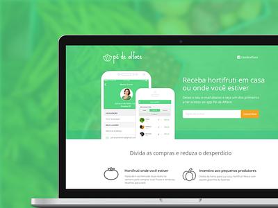 Pé de Alface   Landing Page organic food weekend startup design web ux ui page landing