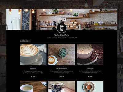 Yummmy - Coffee Shop Menu food coffee menu design web ux ui