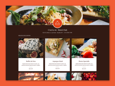 Yummmy - Brownie Theme food menu design web ux ui