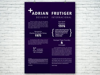 Dribble2 typeface graphic typography frutiger adrian