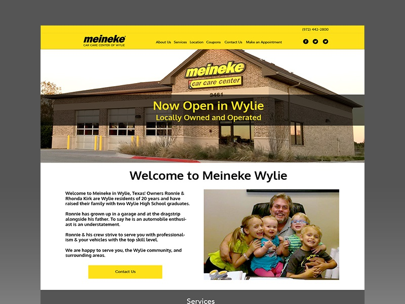 Dribbble Meineke ux ui web design small business homepage yellow black car mechanic