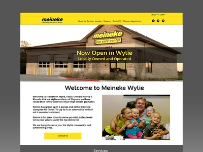 Dribbble Meineke ux ui web design small business homepage yellow black car mechanic