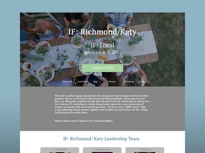 Dribbble Ifkaty ux ui web design conference feminine blue green women if gathering