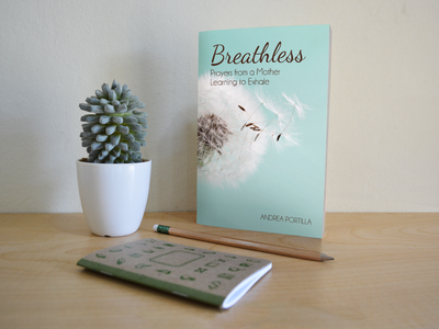 Breathless: Prayers from a Mother Learning to Exhale print design book cover design book cover