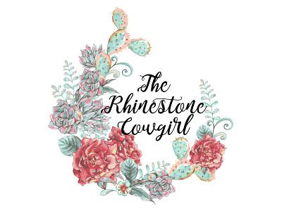 The Rhinestone Cowgirl - Logo Design boutique logo digital design print design business logo design logo design