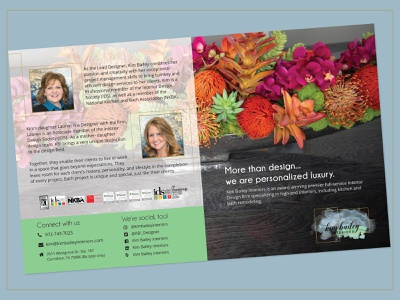 Marketing Brochure- Interior Designer design print design