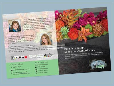 Marketing Brochure- Interior Designer design print design