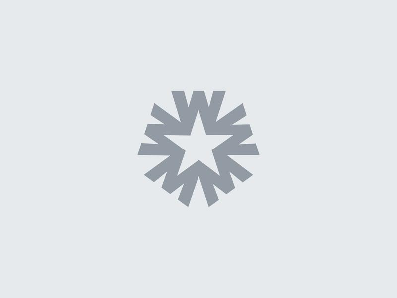W + Star Logo Concept m wm brand minimalist icon typography logotype type lettermark monogram star logo star w logo w branding logo