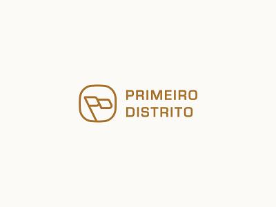 Primeiro Distrito Full Logo pd lettermark monogram luxury minimal brasil apparel clothing flag flag logo logotype typography icon type symbol mark branding brand identity logo design logo
