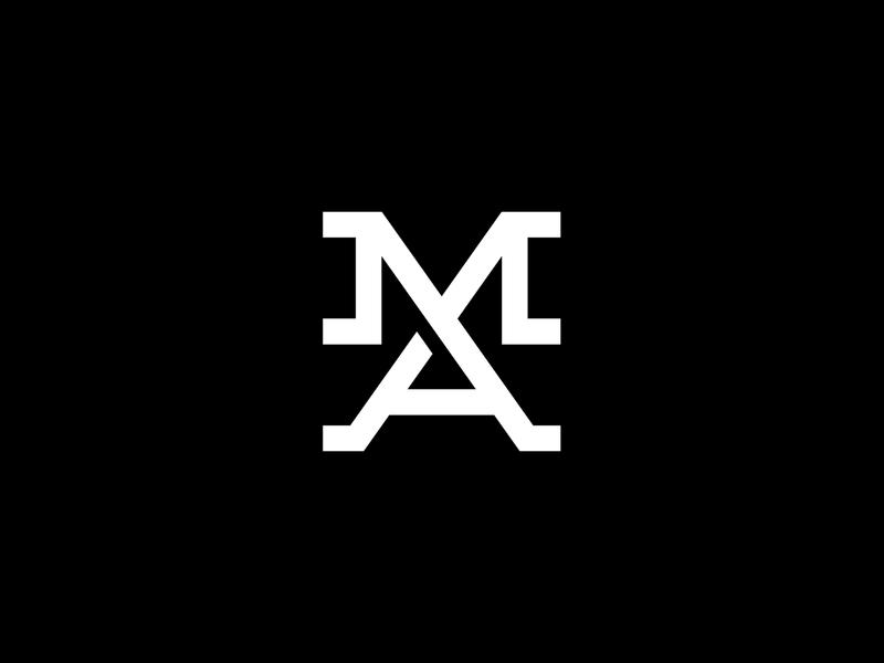 MA Monogram wordmark identity minimalist a m ma logotype mark lettering typography type monogram lettermark branding brand identity logo design