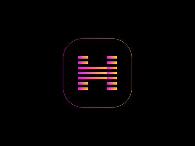 Gradient H Logo Concept icon minimalist colorful gradient app icon app monogram lettermark h branding identity brand design logo