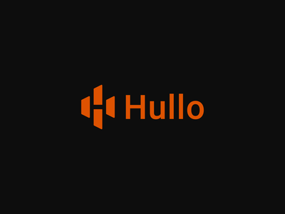 Hullo Logo Design Concept minimal modern digital screens h icon design mobile app app receipts type lettermark monogram symbol mark branding identity brand design logo
