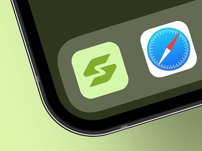 GetSuper Logo Design Concept 1 lettermark monogram type minimalist nutrition exercise fitness s g ios icon mobile app app branding identity brand design logo