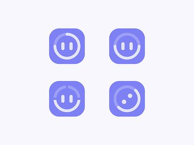 GetSuper Logo Concept 2 minimalist progress tracker happy face smile icon mobile app icon app exercise fitness mark branding identity brand design logo
