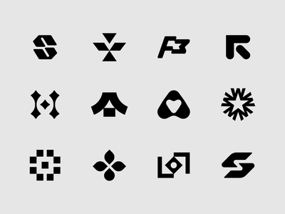 20 Marks & Lettermarks No. 1 on Behance icon japan h coffee heart r flag s collection minimalist type monogram symbol lettermark mark branding identity brand design logo