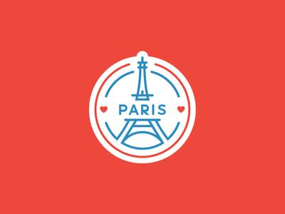 Paris Badge t-shirt france eiffel city paris icon minimal illustration logo stamp design badge