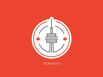 Toronto Badge canada cn city toronto icon minimal illustration logo stamp design badge