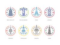 Cities Badges - so far