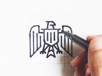 Unused Bald Eagle Logo Design Sketching