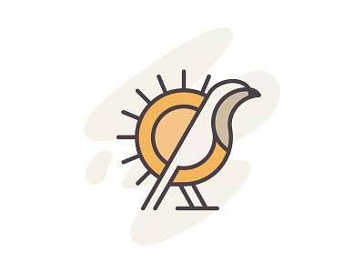 Sabiá-Laranjeira Bird - Brasil design ui brasil icon minimalist illustration logo animal trush bird sabia