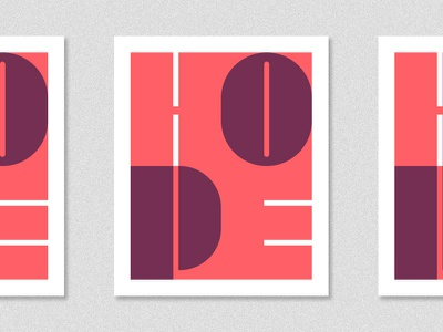 Hope Vertical Version - Poster icon ui lettering typography type printing logo minimalist graphic design design poster hope