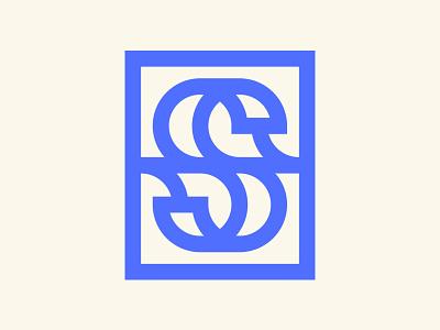 S + Waves Ambigram - Final Color ocean branding ui illustration typography type s wave lettermark monogram ambigram logo