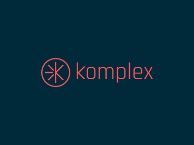 Work In Progress - komplex Logo Design logo design brand identity branding monogram lettermark mark k initial lettering type typography icon illustration minimalist wordmark logotype