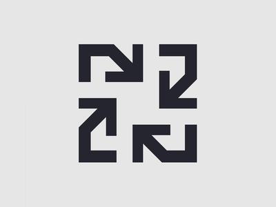 Arrows - Please, help! type typography illustration lettermark n direction arrows icon branding identity brand design logo