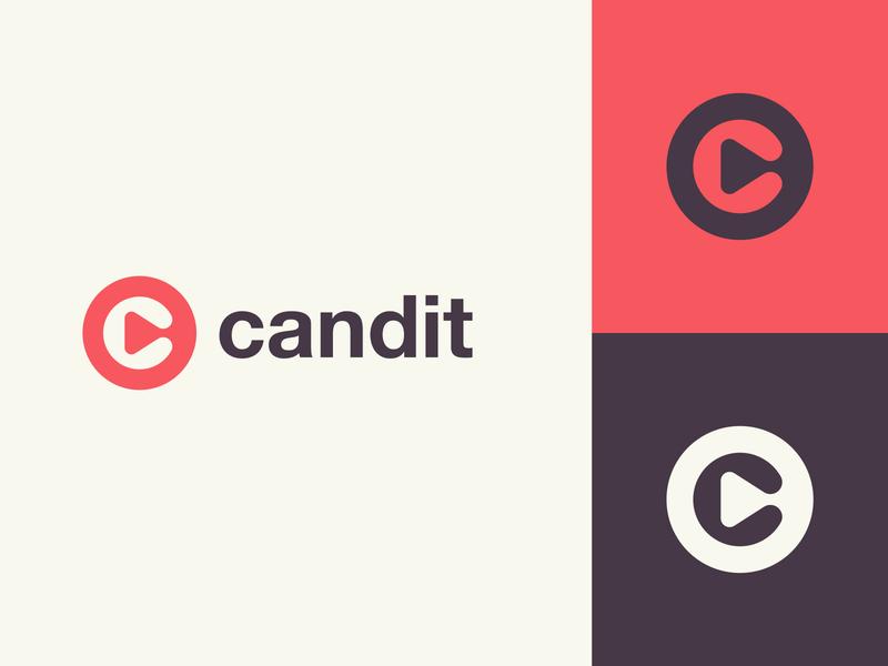 Candit Logo Design Concept app icon app video play button play lettermark c wordmark identity monogram minimalist branding type typography icon illustration design logo