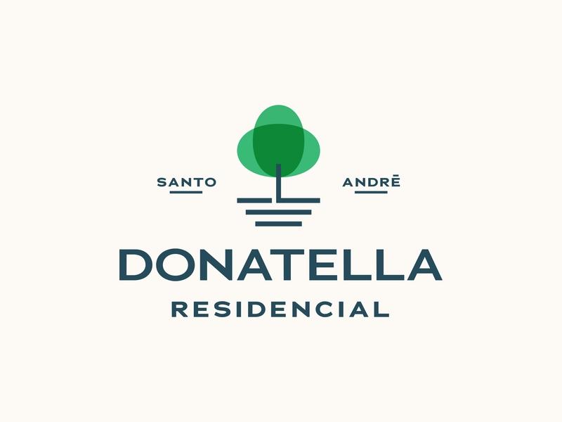 Donatella Logo Concept lockup badge logotype minimalist house residence brasil plant park tree typography type icon illustration branding identity brand design logo
