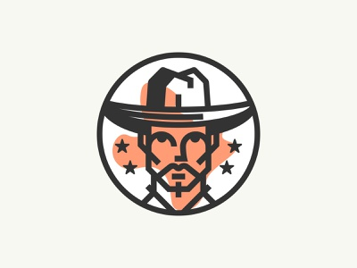 Dang Dang v2 logo design brand identity branding character person face character logo texas dang usa illustration icon typography type minimalist cowboy flag stars