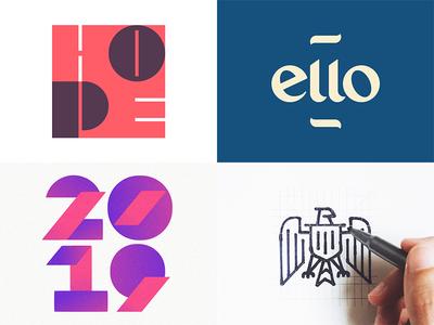 Top 4 2018 😃 lettermark type typography minimalist sketch bird hope eagle 2018 2019 illustration icon logotype wordmark branding identity brand design logo top4