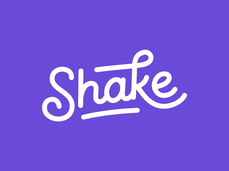 Shake Final Logotype illustrator playful studio minimalist movement shake illustration lettering typography type script wordmark logotype branding identity brand design logo