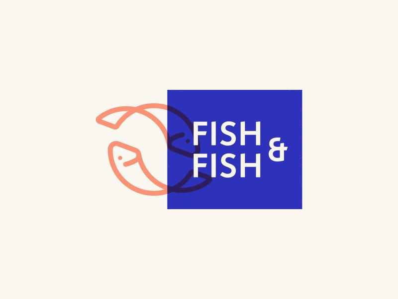 Fish&Fish Brand Identity Design logo design brand identity branding fish system type typography illustration icon minimalist lettermark wordmark animal badge chicago waves ocean restaurant