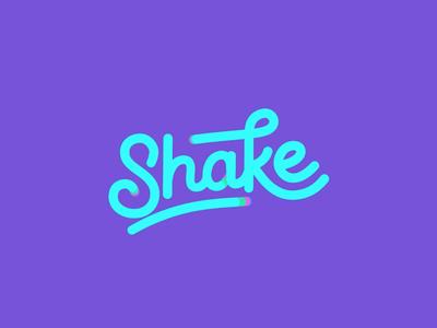 Shake Logo Animation logo design brand identity branding type typography lettering animation motion logo animation illustration logotype wordmark shake vector minimalist monogram