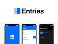Entries App Brand Identity Design