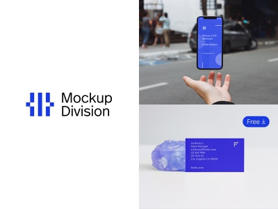 Introducing Mockup Division realistic minimalist logotype icon free download download business card iphone photoshop psd psd mockup template freebie free mockup mockup branding logo