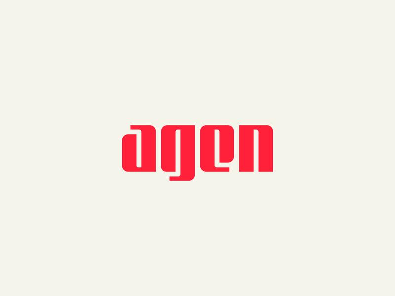 agen logotype red minimalist icon a mark lettermark lettering typography type wordmark logotype branding identity brand design logo