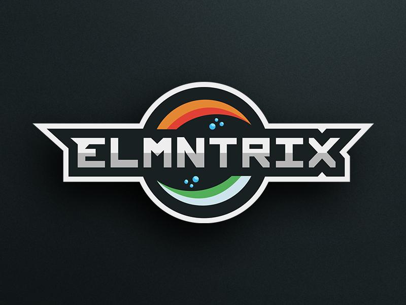 Elmntrix Esports Logo identity branding gaming wind earth water fire elements logo esports elmntrix